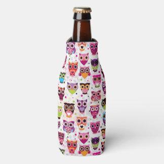 Colourful Owl Pattern For Kids 2 Bottle Cooler