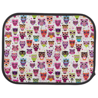 Colourful Owl Pattern For Kids 2 Car Mat