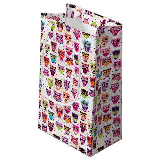 Colourful Owl Pattern For Kids 2 Small Gift Bag