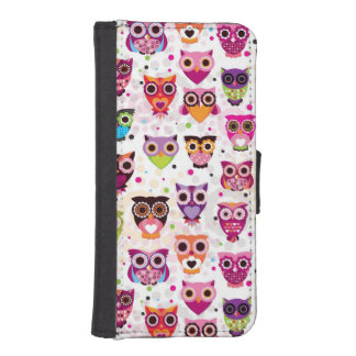 Colourful Owl Pattern For Kids 2 iPhone SE/5/5s Wallet Case