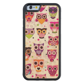 Colourful Owl Pattern For Kids 2 Maple iPhone 6 Bumper Case