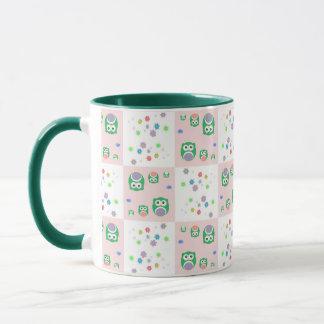 Colourful Owl Pattern For Kids 2 Mug