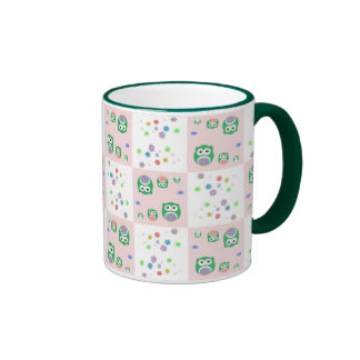 Colourful Owl Pattern For Kids 2 Mugs