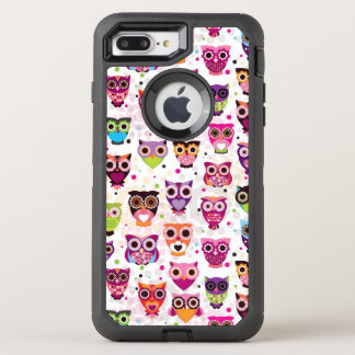 Colourful Owl Pattern For Kids 2 OtterBox Defender iPhone 8 Plus/7 Plus Case