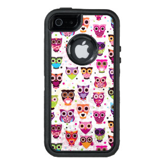Colourful Owl Pattern For Kids 2 OtterBox Defender iPhone Case