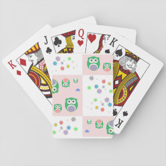 Colourful Owl Pattern For Kids 2 Poker Deck