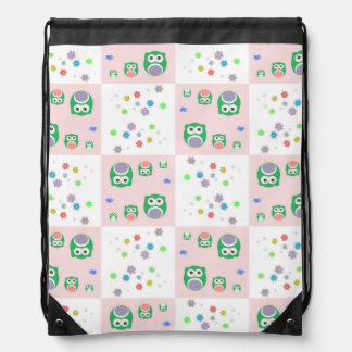 Colourful Owl Pattern For Kids 2 Rucksack
