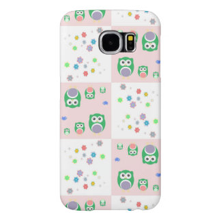 Colourful Owl Pattern For Kids 2 Samsung Galaxy S6 Cases