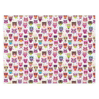 Colourful Owl Pattern For Kids 2 Tablecloth