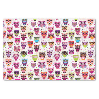 Colourful Owl Pattern For Kids 2 Tissue Paper