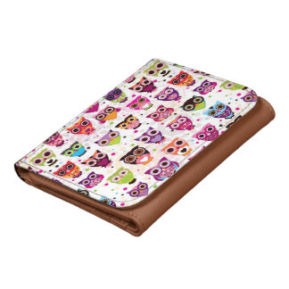 Colourful Owl Pattern For Kids 2 Wallet