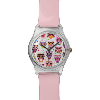 Colourful Owl Pattern For Kids 2 Wrist Watches