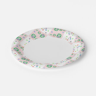 Colourful Owl Pattern For Kids 7 Inch Paper Plate