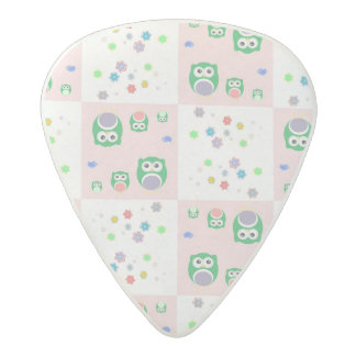 Colourful Owl Pattern For Kids Acetal Guitar Pick