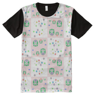 Colourful Owl Pattern For Kids All-Over Print T-Shirt