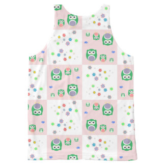 Colourful Owl Pattern For Kids All-Over Print Tank Top