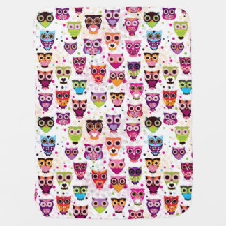 Colourful Owl Pattern For Kids Baby Blanket