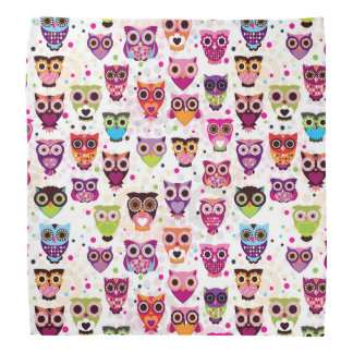 Colourful Owl Pattern For Kids Bandana