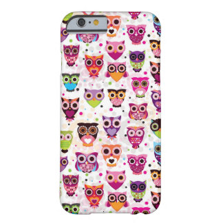 Colourful Owl Pattern For Kids Barely There iPhone 6 Case