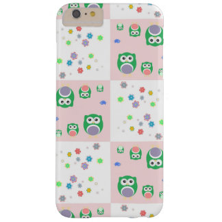 Colourful Owl Pattern For Kids Barely There iPhone 6 Plus Case