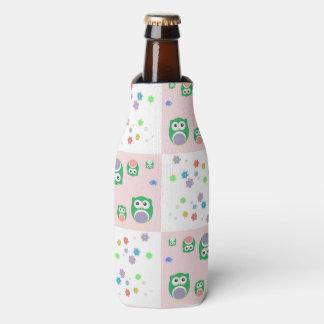Colourful Owl Pattern For Kids Bottle Cooler