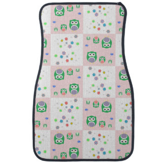 Colourful Owl Pattern For Kids Car Mat