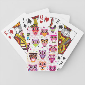 Colourful Owl Pattern For Kids Card Decks