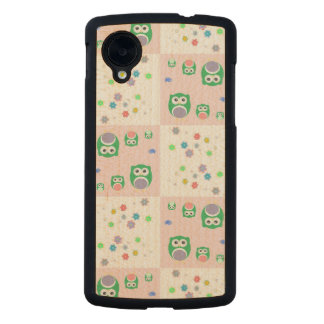 Colourful Owl Pattern For Kids Carved® Maple Nexus 5 Case