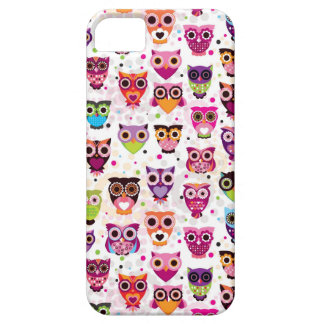Colourful Owl Pattern For Kids Case For The iPhone 5