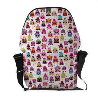Colourful Owl Pattern For Kids Commuter Bag