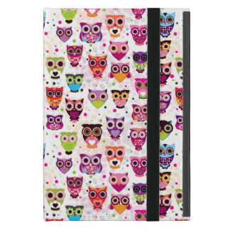 Colourful Owl Pattern For Kids Cover For iPad Mini