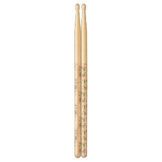 Colourful Owl Pattern For Kids Drumsticks