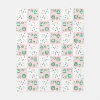 Colourful Owl Pattern For Kids Fleece Blanket