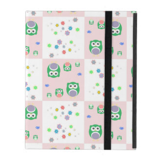 Colourful Owl Pattern For Kids iPad Cover