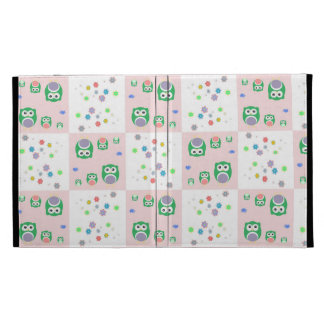 Colourful Owl Pattern For Kids iPad Folio Covers