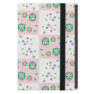 Colourful Owl Pattern For Kids iPad Mini Cases