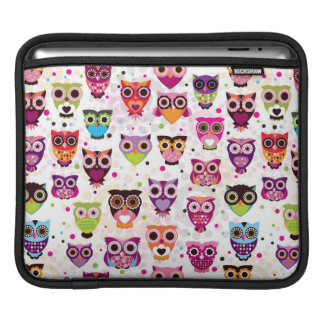 Colourful Owl Pattern For Kids iPad Sleeve