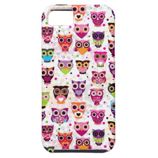 Colourful Owl Pattern For Kids iPhone 5 Case