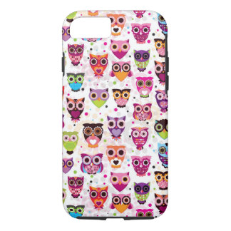 Colourful Owl Pattern For Kids iPhone 7 Case