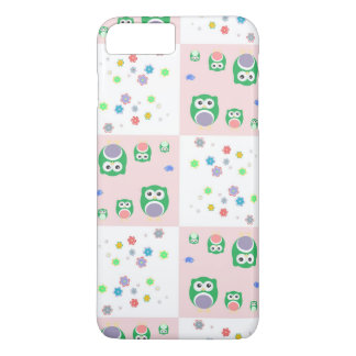 Colourful Owl Pattern For Kids iPhone 7 Plus Case