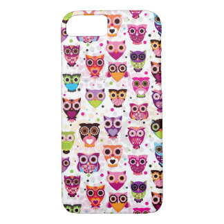 Colourful Owl Pattern For Kids iPhone 8/7 Case