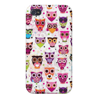 Colourful Owl Pattern For Kids Cases For iPhone 4