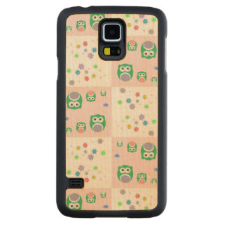 Colourful Owl Pattern For Kids Maple Galaxy S5 Case