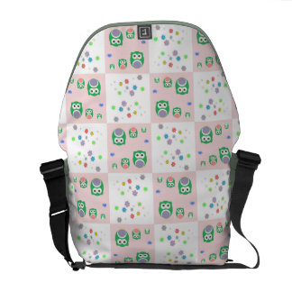 Colourful Owl Pattern For Kids Messenger Bags