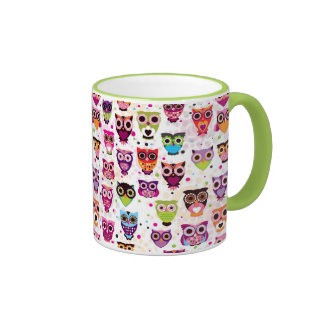 Colourful Owl Pattern For Kids Mugs