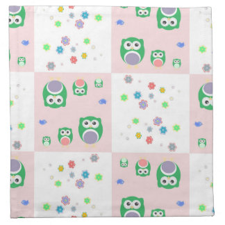 Colourful Owl Pattern For Kids Napkin