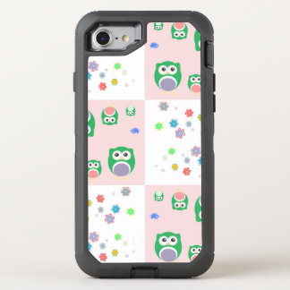 Colourful Owl Pattern For Kids OtterBox Defender iPhone 7 Case