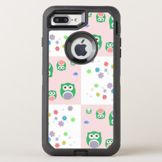 Colourful Owl Pattern For Kids OtterBox Defender iPhone 8 Plus/7 Plus Case