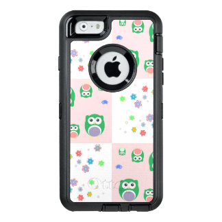 Colourful Owl Pattern For Kids OtterBox Defender iPhone Case
