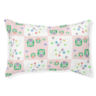 Colourful Owl Pattern For Kids Pet Bed